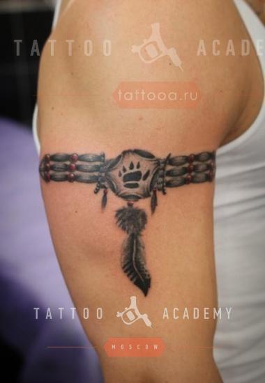 Татуировка браслет на плечо мужские