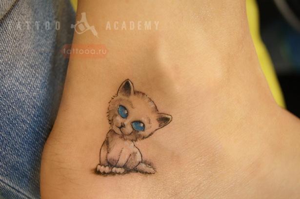 Котенок татуировки 115