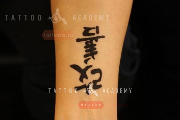 Фото тату с японскими иероглифами с переводом